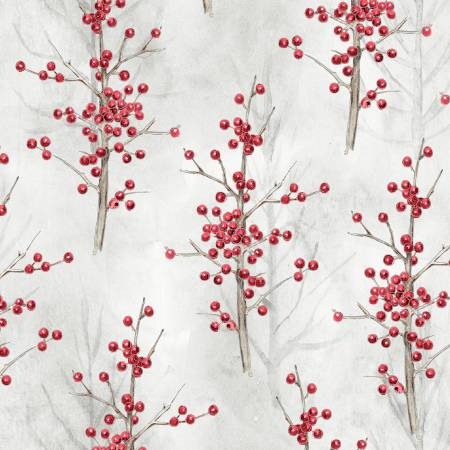 Multi Tree Berries w/Metallic WINW4152-MU