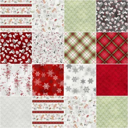 5in Squares Winter Wonderland, 42pcs/bundle