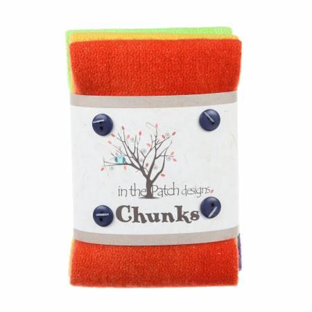 Wool Chunks 5pc 9in x 10in Twinkle Fall