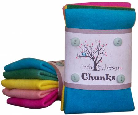 Minty Wool Chunks 5pc 9in x 10in