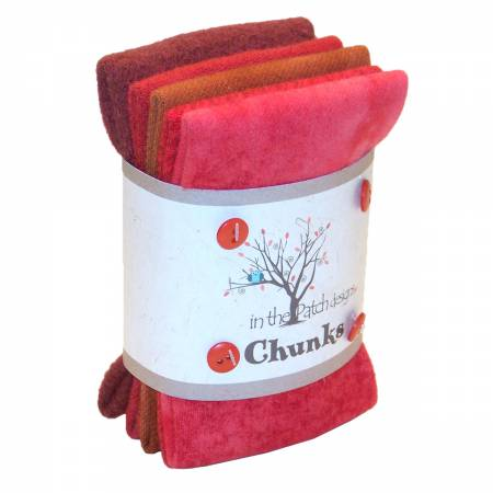 Red Wool Chunks 5pc 9in x 10in