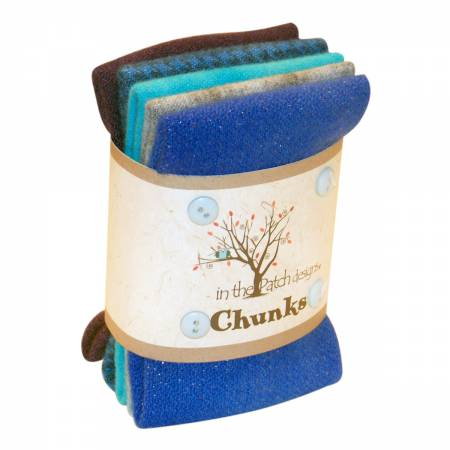 WOOL- Blues Wool Chunks 5pc 9x10