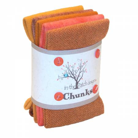 Woolly Chunks Felted Orange