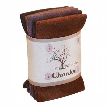 Dark Neutral Wool Chunks 5pc 9in x 10in