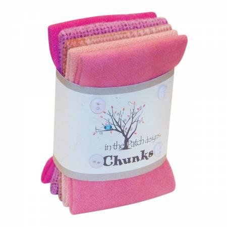 Pink Wool Chunks 5pc 9in x 10in