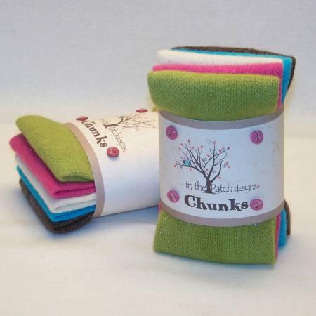 Geranium Wool Chunks 5pc 9in x 10in