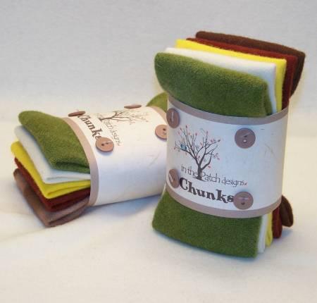 Wool Chunks 5pc 9in x 10in Butternut House