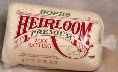 Hobbs Heirloom Batting 100% Wool King 120 x 120