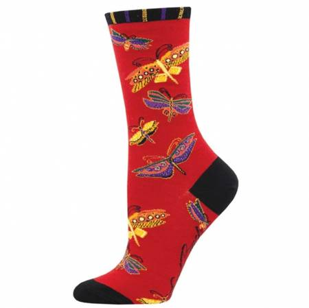 Socks - Flutterbyes Red