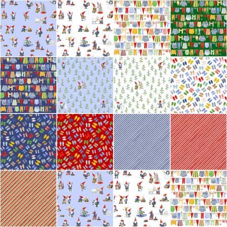 Winter Gnomes Organic Cotton FQB (13pcs) (Striped Pear Studio)