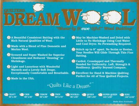 Quilters Dream Wool Twin 72inx93in