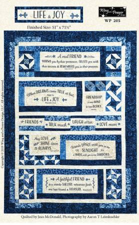 Life & Joy - London Blues Panel Pattern