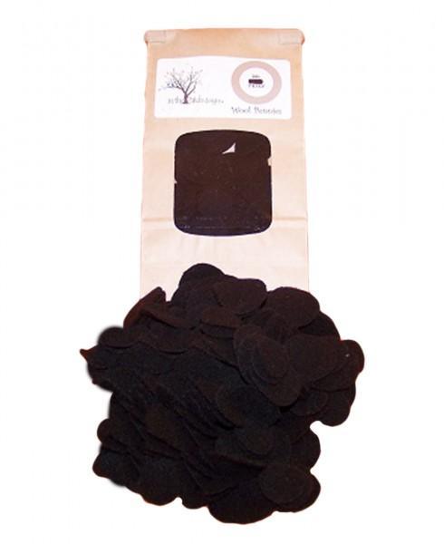 Bag Of Wool Pennies 1-1/2in & 1in 72ct Black