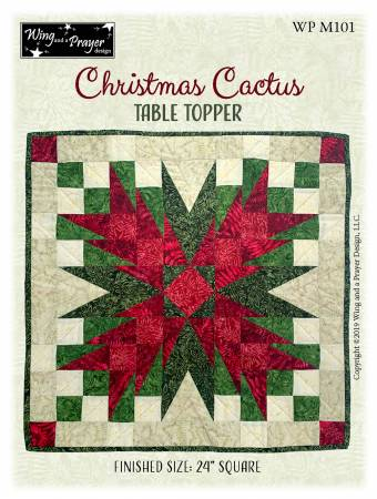 Christmas Cactus Table Topper
