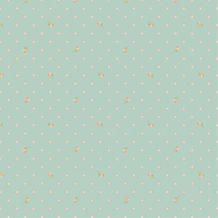 Poppie Cotton Woodland Songbirds Mint Berry Dot