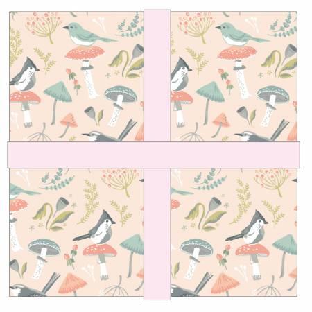 Woodland Songbird, 42pcs, 5 inch squares
