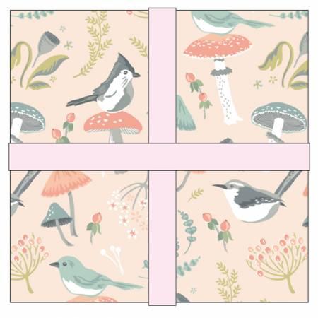 10in Squares Woodland Songbird, 42pcs