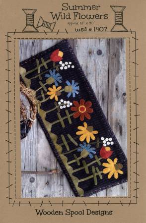 Summer Wild Flowers - Wool Wall Hanging (#2006)