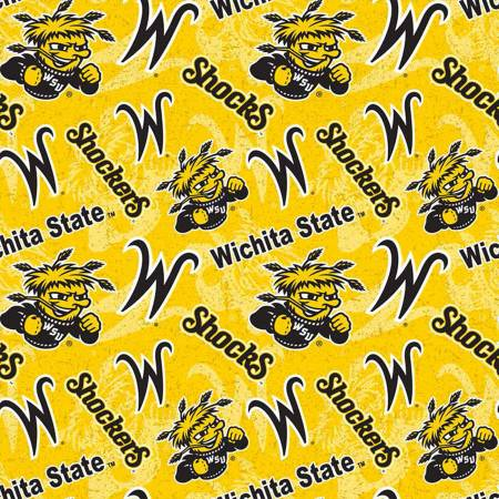 NCAA-Wichita State Shockers Tone on Tone Cotton