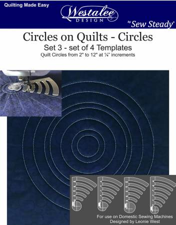 Circles on Quilts-CirclesTemplate 4 pc. Set(Low Shank)
