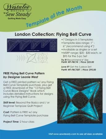 Flying Bell Curve 5pc Template Set low shank