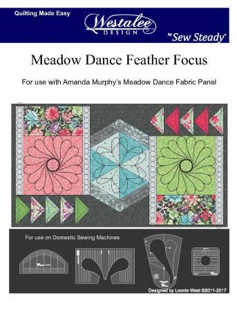 Westalee Template Set Meadow Dance Feather Focus