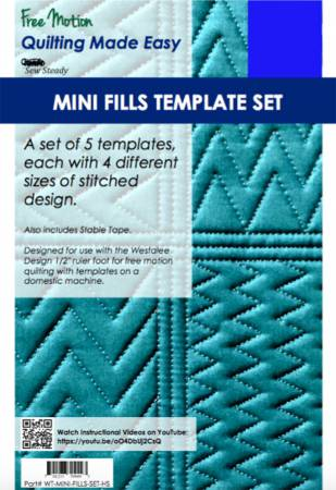 Mini Fills Template Quilting Ruler Set 5pc High Shank