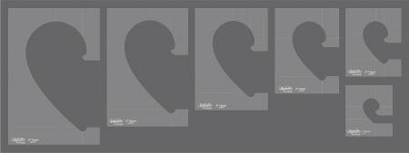 Westalee Heart Collection Template 6pc Set- High Shank