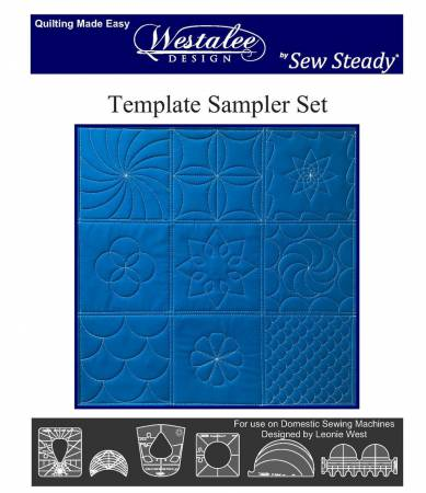 Westalee by Sew Steady- Sampler Template Set 6pc - Low Shank Foot