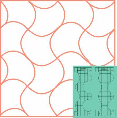 Westalee Design 2pc Back to Back Template Set Low Shank