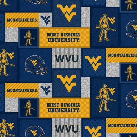 WVU West Virginia Mountaineers College Patch Fleece