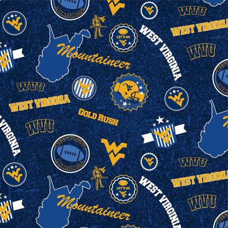 West Virginia Mountaineers Home State Cotton WVU