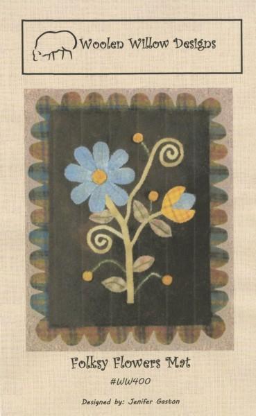 Folksy Flowers Mat