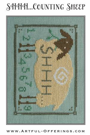 SHHH..Counting Sheep Cross Stitch Pattern