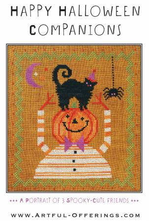 Happy Halloween Companions Cross Stitch Pattern