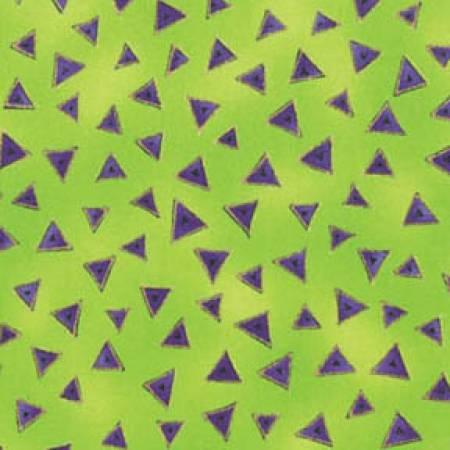 Lime Triangle Metallic