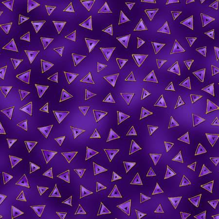 Purple Triangle w/Metallic