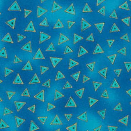 Dark Aqua Triangle Metallic