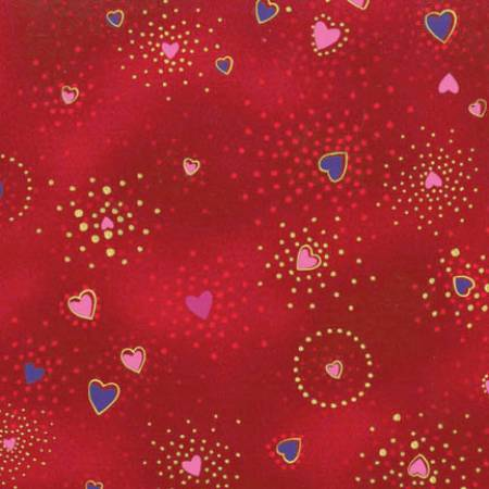 Red Hearts Metallic