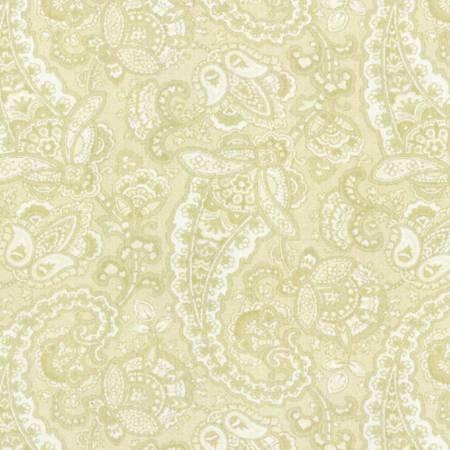 Paisley Light Butter Green