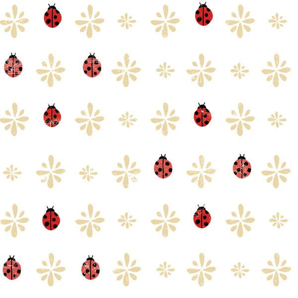 Lady Bug Blooms White Toss *18