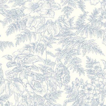 Clothworks Staples V blue