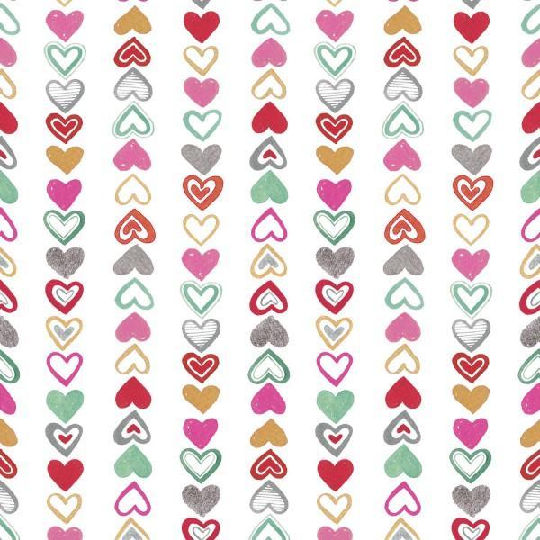 Vintage Valentine Hearts Stripe