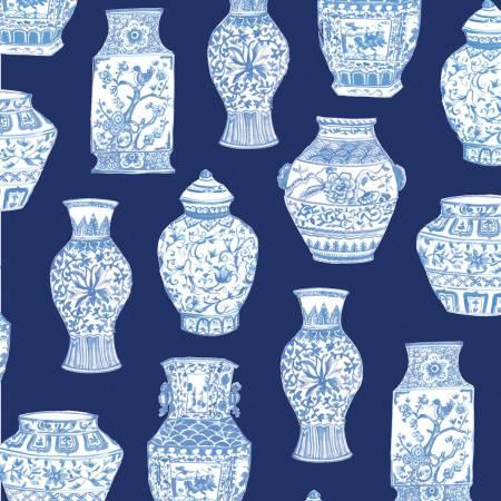 Blue Porcelain, Light Navy Toile