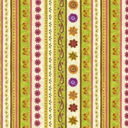 Spice Garden Stripe Cream