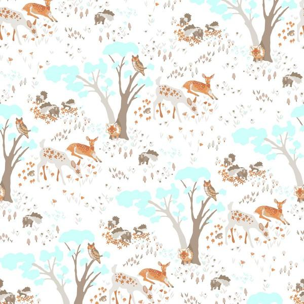 Woodland Gathering Taupe Toile