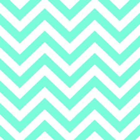 BROTHER SISTER WHITE WITH AQUA ZIG ZAG Y2142-33