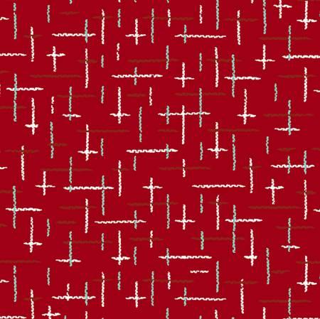 Retro Santa Holiday Cotton Fabric Yardage 44/45 Inches WideL