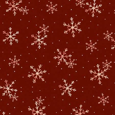 Dark Red Toss Snowflake