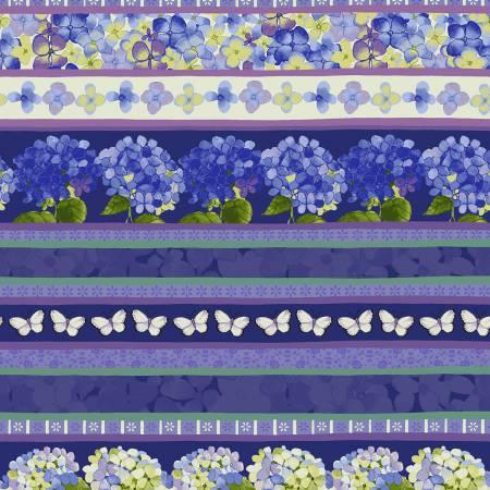 Clothworks Heavenly Hydrangeas Y2254-31